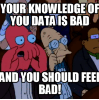 You Should Feel Bad: YOURKNOWLEDGE OF  YOU DATA ISBAD  AND YOU SHOULD FEEL  BAD!