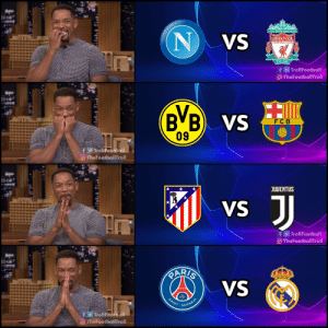 The Champions League is back 😍😍 https://t.co/xx51ORiZm3: YOUTLL NEVER WALKALONE  NVS  LIVERPOOL  FOOTBALL CLUB  EST-1892  f TrollFootball  O-TheFootballTroll  B B VS  09  F C B  fTrollFootball  TheFootballTroll  JUVENTUS  JJ  VS  fTrollFootball  O TheFootballTroll  RARIS  VS  mansun  SAINT  GERMAIN  TrollFootball  TheFootballTroll The Champions League is back 😍😍 https://t.co/xx51ORiZm3