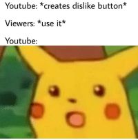 youtube.com, How, and Dare: Youtube: *creates dislike button*  Viewers: *use it*  Youtube: How dare they?