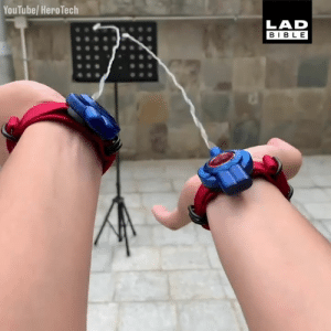 This guy created his own web shooters and took one step closer to becoming Spider-Man 🦸‍♂️🕷: YouTube/ HeroTech  LAD  BIBLE This guy created his own web shooters and took one step closer to becoming Spider-Man 🦸‍♂️🕷