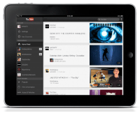 """Bust out your iPad or new iPhone 5–we've got an updated YouTube app for you. http://goo.gl/TeBhR: YouTube  Home Feed  Tay Zonday  Film & Animation  Autos & Vehicles  9:55 AM  S2DIO CITY: THECOURTS  ft. X-Mob DS2...  RA pantsaTV  Dubstep Violin- Lindsey Stirling- Crystalize  indsaystomp  JAB STEP ATTACK a1 """"The Slip""""  12.110 vows  YouTube  The  Sli  345  500 Bust out your iPad or new iPhone 5–we've got an updated YouTube app for you. http://goo.gl/TeBhR"""