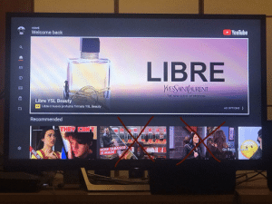 Yep, this is the YouTube Home Tab on the PS4, 85% Ad, 10% Something I would never watch and 5% Something I want to watch... Good Job YouTube: YouTube  HOME  Welcome back  LIBRE  WESSAINT/AURENT  THE NEW SCENT OF FREEDOM  Libre YSL Beauty  AD OPTIONS >  Ad Libre il nuovo profumo firmato YSL Beauty  Recommended  THEY CANT  Go Back Search  HOW TABASCO  IS MADE  WILBL Yep, this is the YouTube Home Tab on the PS4, 85% Ad, 10% Something I would never watch and 5% Something I want to watch... Good Job YouTube