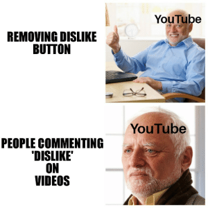 Videos, youtube.com, and People: YouTube  REMOVING DISLIKE  BUTTON  YouTube  PEOPLE COMMENTING  DISLIKE  ON  VIDEOS