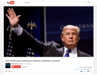 The Third Smoob: YouTube  Search  Top 10 Hilarious Impressions Done by Celebrities (Quickie)  WatchMojo.com  M 11.372 videos  mojo  C Subscribe  12,783,781  ERVA  171,137 views  4,426  164 The Third Smoob