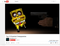 me irl: YouTube  Search  Top 10 Scariest Creepypastas  WatchMojo.com  Subscribe  11,976,711  Add to  Share More  10,097,386 views  57,455  8,697 me irl