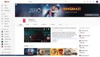 """Community, Videos, and youtube.com: YouTube  t series  Home  Trending  ISSAQBAAZI  ZERO  Subscriptions  SONG OUT NOW  213T DECEMBER 2018  LIBRARY  ZERO MOVIE SONG f  History  Watch later  Liked videos  Fortnite  T-Series  73,974,361 subscribers  SERIES  HOME  VIDEOS  PLAYLISTS  COMMUNITY  CHANNELS  ABOUT  Show more  Zero: ISSAQBAAZI Video Song 