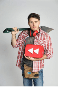 Dank, 🤖, and Button: YouTubers get crazy with the #YouTubeRewind button.