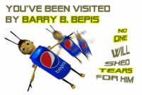 ;;Barry;; https://t.co/ySL8aQXZac: YOU'VE BEEN VISITED  BY BARRY B. BEPIS  NO  ONE  WILL  SHED  TEARS  FOR HIM ;;Barry;; https://t.co/ySL8aQXZac