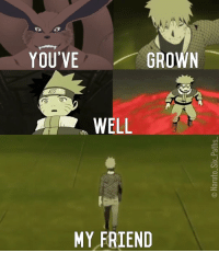Memes And Dbz YOUVE GROWN WELL MY FRIEND NARUTO Edit
