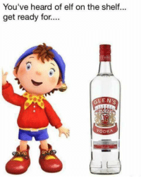 Elf on the shelf: You've heard of elf on the shelf...  get ready for..  VeDK  GLEN'  VODKA