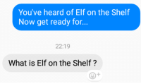 "Dank, Elf, and Elf on the Shelf: You've heard of Elf on the Shelf  Now get ready for...  22:19  What is Elf on the Shelf? <p>@me seeing this meme everywhere via /r/dank_meme <a href=""http://ift.tt/2xPGG1Q"">http://ift.tt/2xPGG1Q</a></p>"