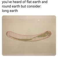 Tumblr, Blog, and Earth: you've heard of flat earth and  round earth but consider:  long earth memehumor:  Revolutionary