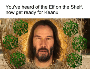 I've wasted too many hours searching for something that rhymes with bush: You've heard of the Elf on the Shelf,  now get ready for Keanu I've wasted too many hours searching for something that rhymes with bush