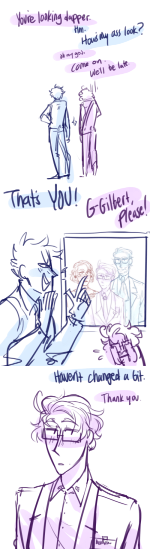 ask-art-student-prussia:  theyre gonnaaaaaa go see……….some students perform some musical thigns: Yovre loaking dapper  Hm  Hous My ass look?  h wmy god.  Well be late   Thats YOU!  GGilbert  Acase   HOueNH chunged a bit  Thank you  BesWa ask-art-student-prussia:  theyre gonnaaaaaa go see……….some students perform some musical thigns
