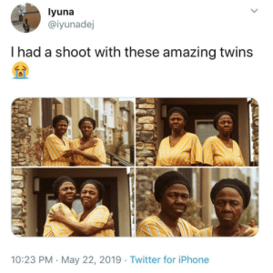 Siblings who love each other.: yuna  @iyunadej  I had a shoot with these amazing twins  10:23 PM May 22, 2019 Twitter for iPhone Siblings who love each other.
