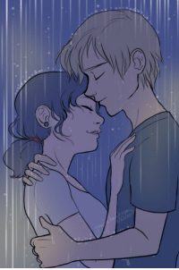 Love, Target, and Tumblr: yunyin: Adrinette Month Day twenty-three: Love Confession Now get out of the rain you two, before you catch a cold.