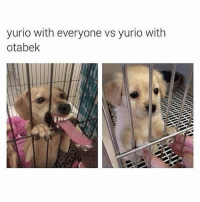 Anime, Memes, and Tumblr: yurio with everyone vs yurio with  otabek Hey, guys. I feel miserable, but that's nothing new. I just got back from the vet and they gave my pet some medicine and told us what would be best for her so she should be okay ✩ anime manga otaku tumblr kawaii bts bangtan fairytail tokyoghoul attackontitan animeboy onepiece bleach swordartonline aot blackbutler deathnote yurionice shingekinokyojin killingstalking army snk kpop bangtanboys sao yaoi btsarmy animedrawing animelove bnha