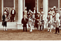 """yveinthesky:  bulletproofjewels:  ottovonbabemark:  How about to celebrate his coronation today I post a picture of Willy II dressed up as Frederick the Great. What I've really wondered was if he forced the Prussian general staff or something to dress up with him. ((I really hope he did))  """"Guys, we're so doing this,""""""""I don't know, your Majesty…""""""""WE'RE DOING THIS AND ITS GOING TO BE FABULOUUUUUS!""""  Cosplay, an old Prussian tradition. : yveinthesky:  bulletproofjewels:  ottovonbabemark:  How about to celebrate his coronation today I post a picture of Willy II dressed up as Frederick the Great. What I've really wondered was if he forced the Prussian general staff or something to dress up with him. ((I really hope he did))  """"Guys, we're so doing this,""""""""I don't know, your Majesty…""""""""WE'RE DOING THIS AND ITS GOING TO BE FABULOUUUUUS!""""  Cosplay, an old Prussian tradition."""