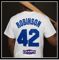 Memes, Sports, and Brooklyn: yWlsoy  CHAMPS  SPORTS.  WE KNOW GAME 42 Celebrate JackieRobinsonDay with the Jackie Robinson Brooklyn Dodger tee now at select Champs! ⚾️