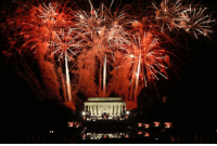 Memes, Fireworks, and Getty Images: yy 겔 3. ICYMI: A dazzling fireworks display over the Lincoln Memorial last night at the 'Make America Great Again! Welcome Celebration.' (📷: Carolyn Cole-Los Angeles Times via Getty Images) Trump45