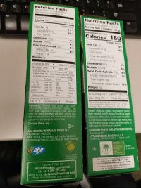 The difference between Thin Mints and Thin Mints: Z X C  Nutrition Facts  Serving Size 4 cookies (32g)  Servings Per Container 8  Nutrition Facts  About 8 servings per container  Serving Size 4 Cookies (31g)  Calories 160  Calories from Fat 70  Total Fat 7g  Saturated Fat 5g  Amount per serving  25%  Trans Fat 0g  Cholesterol Omg  Sodium 105mg  Total Carbohydrate 22g  0  % Daily Value  Total Fat 7g  Saturated Fat 5g  Trans Fat 0g  Polyunsaturated Fat 1g  Monounsaturated Fat 1g  7%  Dietary Fiber 1g  25%  Sugars 11g  Protein 2g  Vitamin A 0% .  Calcium 0%  Vitamin C 0%  Iron 6%  Cholesterol 0mg  Sodium 120mg  0%  5%  Total Carbohydrate 21g 8%  Percent Daily Values are based on a 2,000  calorie diet. Your daily values may be higher  or lower depending on your calorie needs  Calories: 2,000  Dietary Fiber less than 1g  Total Sugars 10g  3%  Total Fat Less than 65g  Includes 9g Added Sugars  Protein 2g  18%  Sat Fat Less than 20g  Cholesterol Less than 300mg  300mg  Less than 2,400mg 2,400mg  Vit. D 0mcg 0% , Calcium 10mg 0%  Iron 1.2mg 6% . Potas. 40mg 0%  Total Carbohydrate  Dietary Fiber  Calories per gram:  The % Daily Value (DV) tels you how much a nutret  in a serving of food contributes to a daly diet. 2000  calories a day is used for general nutrition advicae  Fat 9 Carbohydrate 4Protein 4  Ingredients: Enriched flour (wheat lour, niacin,  reduced iron, thiamine mononitrate, riboflavin, folic  acid), sugar, vegetable ol shortening (palm kernel and  palm oils), cocoa (processed with alkali), caramel color  high fructose corn syrup, salt, baking soda, soy lecithin  Ingyredientis Enriched Rour lwheat four,riacin, reduced iron,viaminB  peppermint oil, natural and artificial flavor  Contains: Wheat, soy.  sda, monocalcium hosp hale. cornstarch, sat, stian haaratas  ecithin, nahural and anticial flavors,ol of pepermint  CONTAINS WHEAT AND SOY INGREDIENTS  ABC BAKERS/INTERBAKE FOODS LLC  RICHMOND, VA 23233  Manufactured for:  LITTLE BROWNIE BAKERS® LL.C.  LOUISVILLE, KENTUCKY 40216 Baked in USA  Made in U.S.A. from Domestic and Imported Ingredients  Interbake Foods LLC and others. All rights reserved  MIXED  alsesmosd1106186  #5P0  www.rpo crg  Suppoting sustai sasie  wwa greenpam.  For product inquiries or concerns  call us at 1-800-962-1718  or visit littlebrowniebakers.com  To learn more about Girl Scouts  go to www.girlscouts.org  Inquiries? Visit us  abcsmartcookies.com/contact  Call us: 1-800-221-1002  Write to us: abcbakers@interbake.com  Please have production code available The difference between Thin Mints and Thin Mints