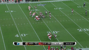 Four months ago, Damon Sheehy-Guiseppi was sleeping outside because he couldn't afford a hotel.  He talked his way into a contract with the @Browns and today he scored an 86-yard punt return TD!  What. A. Moment. @damon015 https://t.co/apiNylE7Wn: Z0  40  WSH 10  CLE 24 4TH 3:22 :13  4TH & 4  |syslems Four months ago, Damon Sheehy-Guiseppi was sleeping outside because he couldn't afford a hotel.  He talked his way into a contract with the @Browns and today he scored an 86-yard punt return TD!  What. A. Moment. @damon015 https://t.co/apiNylE7Wn