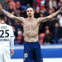 50 of Zlatan Ibrahimovic's new temporary tattoos were signatures of people who suffer from starvation.: FERET  25  OS MALUS 50 of Zlatan Ibrahimovic's new temporary tattoos were signatures of people who suffer from starvation.