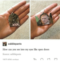 Memes, 🤖, and How-Can-You-See-Into-My-Eyes-Like-Open-Doors: zabble pants  How can you see into my eyes like open doors  Source: zabblepants