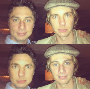 Zach Braff shared this faceswap of himself and Dax Shepard on Twitter: Zach Braff shared this faceswap of himself and Dax Shepard on Twitter
