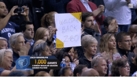 The home crowd in Memphis welcomed Zach Randolph back with a standing ovation after he took a leave of absence due to his mother's passing 🙏🏽: ZACH RANDOLPH  GAMES  CAREER REGULAR SEASON  GAMES PLAYED The home crowd in Memphis welcomed Zach Randolph back with a standing ovation after he took a leave of absence due to his mother's passing 🙏🏽