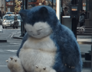 Life, Tumblr, and Blog: zachofalltrade:  monsieurenjlolras:   chasekip: i trust live action snorlax with my life and my only wish is to one day give him a big hug  that jigglypuff on the background, however, is a demon   Cinematic parallels