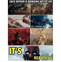 Anime, Batman, and Beautiful: ZACK SNYDER IS BRINGING ARTTO LIFE  ALL THINGS HER  IT'S  BEAUTIFUL Have you realized? Photocred @allthingsshero batman superman superhero captainamerica cartoon thor anime comics avengers hulk flash spongebob igers iphoneasia photooftheday videogames picoftheday spiderman instahub followme instagood picoftheday dc comiccon injustice2 instadaily sdcc