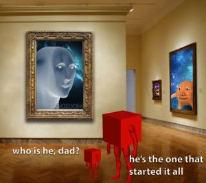 The founder of surreal memes: ZANDZOOM  who is he, dad?  he's the one that  started it al| The founder of surreal memes