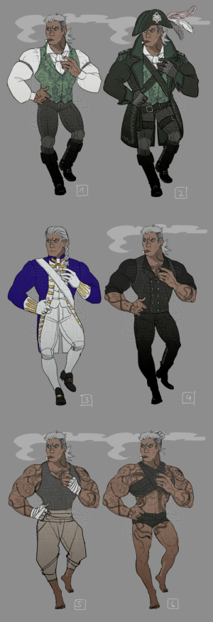 zartbitter-salat:  Rhona's outfits! Redesigned the first concept art (and did nothing else  the entire day haha) No. 3 is her old Royal Lotmeer Navy uniform.  : ZARTBITTER PIGAT  RTBITTERPIGAT  র{(टৰ   3  ZARTBITTER-SAGAT   S  ussde zartbitter-salat:  Rhona's outfits! Redesigned the first concept art (and did nothing else  the entire day haha) No. 3 is her old Royal Lotmeer Navy uniform.