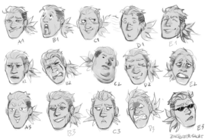 zartbitter-salat:Rhona expressions! Did the first 3 rows until I did not feel like it anymore haha (Based on this expression sheet): zartbitter-salat:Rhona expressions! Did the first 3 rows until I did not feel like it anymore haha (Based on this expression sheet)
