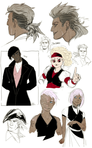 zartbitter-salat:Some Rhona hair and Kh sketches of Qualit, Elio and Lya from today :D: zartbitter-salat:Some Rhona hair and Kh sketches of Qualit, Elio and Lya from today :D