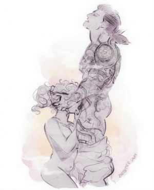 zartbitter-salat:  There's always time for a quickie quick sketch of the pirate lesbians  😊  : zartbitter-salat:  There's always time for a quickie quick sketch of the pirate lesbians  😊