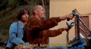 """Whenever I get into an argument with a non-American English speaker over the pronunciation of the letter """"Z"""": Zed s dead, baby, Zed's dead. Whenever I get into an argument with a non-American English speaker over the pronunciation of the letter """"Z"""""""