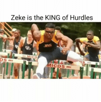 Memes, 🤖, and Cds: Zeke is the KING of Hurdles  JBS  awa MI CD  DS  CDS Zeke is the KING of Hurdles 🔥👑🔥 @ezekielelliott CowboysNation ✭