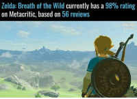 Zelda Breath of the Wild Currently Has a 98% Rating on Metacritic