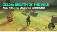 ???  What is going on??: ZELDA: BREATH OF THE WILD  NEW ABILITIES UNLOCKED WITH RUNES ???  What is going on??