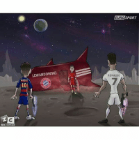Memes, 🤖, and Sport: ZERO CA  MESSI  LEWANDOWSKI  NCO  ETRO SPORT  RONALDO Lewandowski is also out of this world 💪💪 Via @zezocartoons