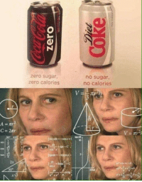 Memes, Target, and Tumblr: zero sugar,  zero calories  no sugar,  no calories  2x  dx  +c  30° 30-minute-memes:Makes perfect sense