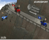 Another One, Another One, and Memes: ZEZ  CARTOONS  EUROSPORT  Premier Ouch! Another one bites the dust in the Premier League title race سباق الدوري الانجليزي Cartoon : @zezocartoons