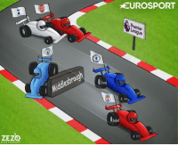 The Premier League race.: ZEZ  CARTOONS  sbroug  EUROSPORT  remier  ague The Premier League race.