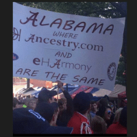 ALABAMA  WHERE  Ancestry.com  AND  eHArmony  ARE THE SAME Best college football sign ever