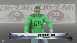 From parts unknown: ZIG-ZAGIGLAG  G B  GREEN BASTARD  OGREEN BASTARD  MENU From parts unknown