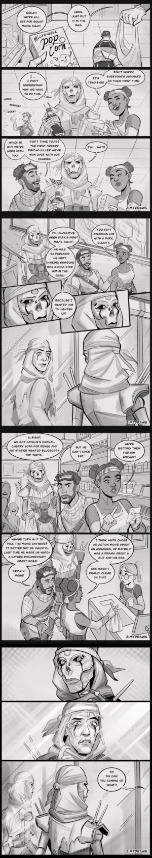 zimtdraws:  short comic about new friends and ongoing identity crisis  