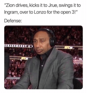 """Be Like, Nba, and Zion: """"Zion drives, kicks it to Jrue, swings it to  Ingram, over to Lonzo for the open 3!""""  Defense: NBA defenses be like...  (Via jackfrank_jjf)"""