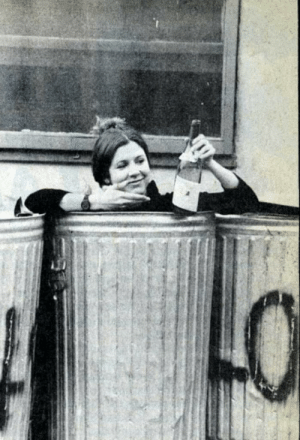 Carrie Fisher, Target, and Trash: ziraseal: oldschoolcelebrities: Carrie Fisher in the trash with a bottle of wine, 1977 Truth coming out of her well to shame mankind